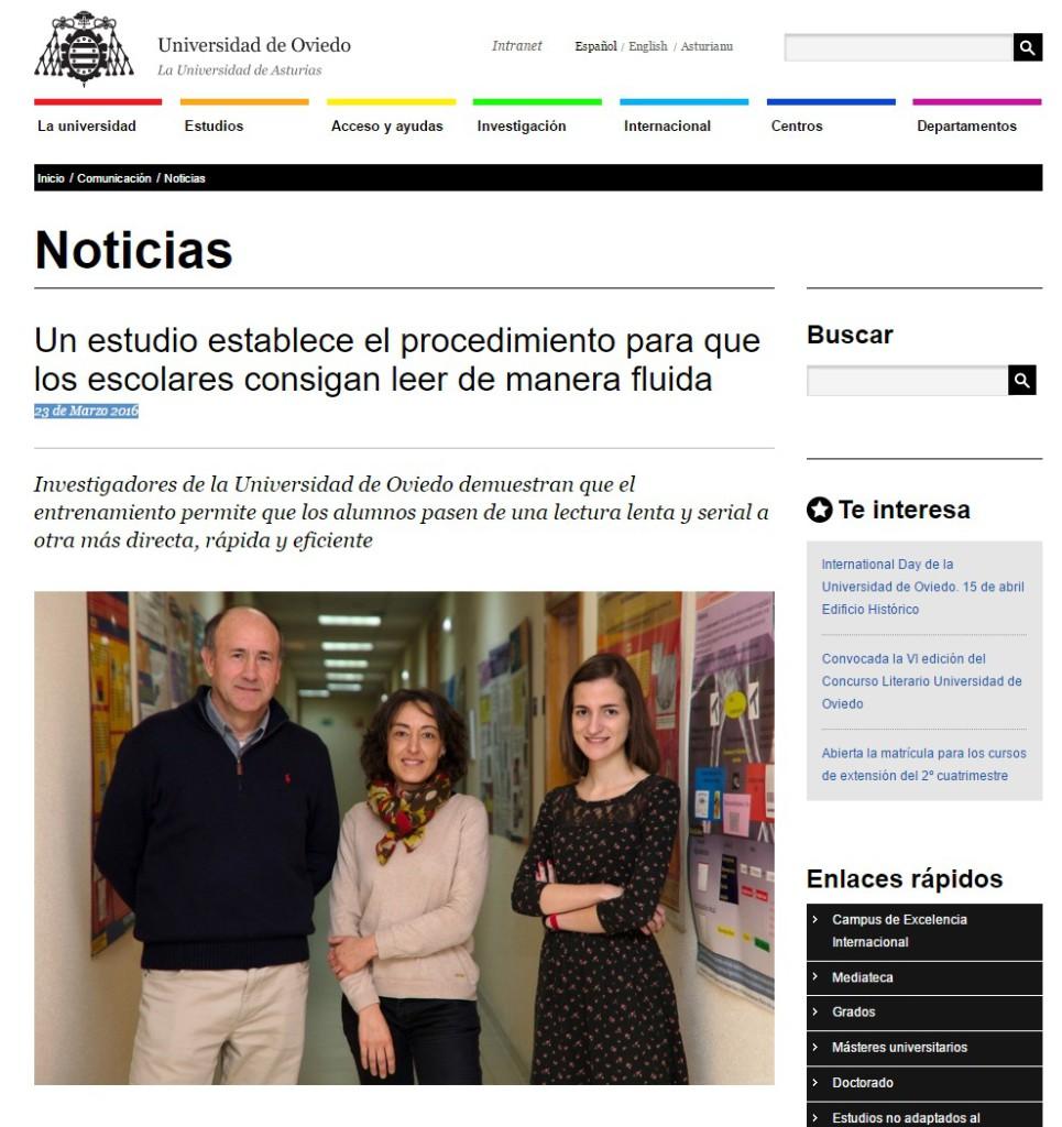Universidad de Oviedo Un estudio establece el procedimiento para que los escolares consigan leer de manera fluida Noticias